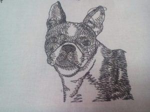 Bostonský teriér zastavy.com vysivka psy