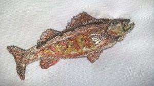 Ostriež vysivky.com zastavy.com vysivka vysivanie ryba rybari