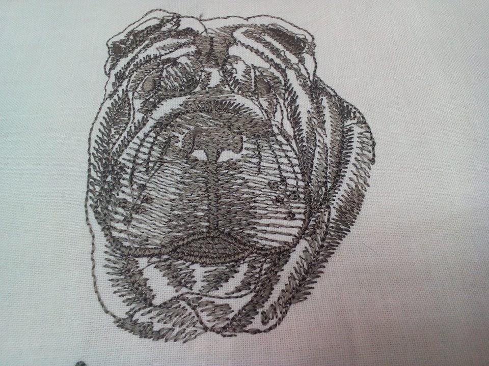 Shar-Pei pes vysivka zastavy.com