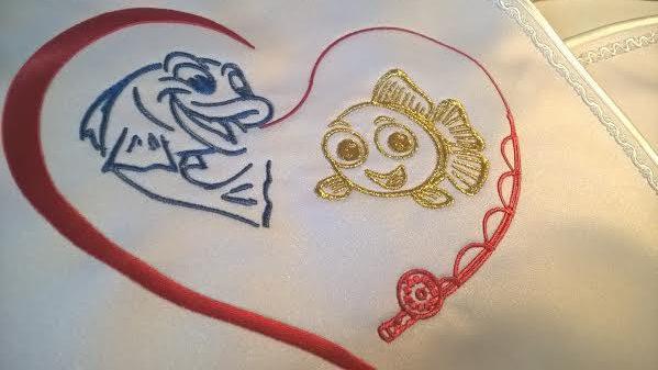 baloniky a miška vyšivka svadobny podbradnik zastavy.com