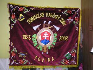 hasičska zástava Povina zastavy.com