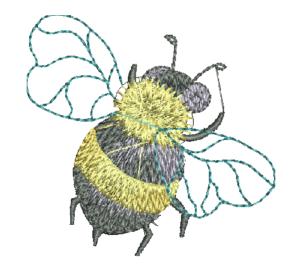 včela osa vysivka zastavy.com