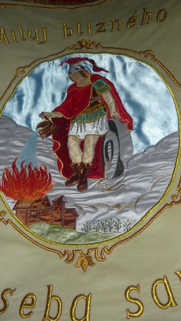 varín vlajka zastavy.com sv.benedikt hasiči