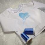 vyšivka na košielku zastavy.com srdce modré